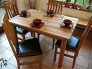 Solid Oak Minsk Table and Winchester chairs