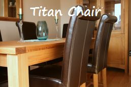 Titan premium leather chairs just £99.99 in a wide range of colours.  Super comfortable S sprung seats
