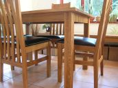 Minsk Oak Dining Table Set with Winchester chairs, table just £199 !