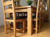 Tallinn oak Dining Table Set with Charlon oak dining chairs