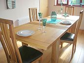 Tallinn oak Dining Table Set with Tutbury dining chairs