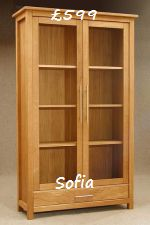 Sofia Oak Display Cabinet - Click for more details